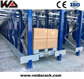 China Automated Warehouse Radio Shuttle Racking System